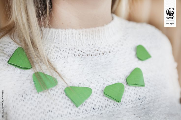 Valentines Day green heart necklace